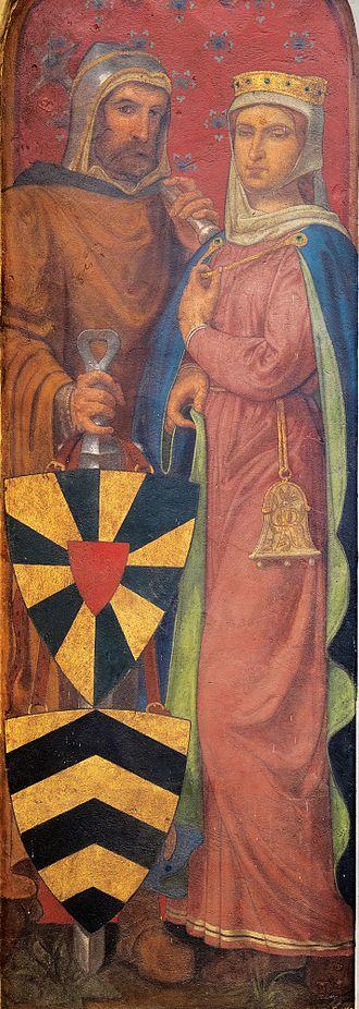 Richilde, Countess of Hainaut - Baldwin VI of Flanders and Richilde of Hainault