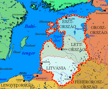 balti tenger térkép Balti országok – Wikipédia