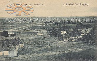 Bar, Vinnytsia Oblast - Old picture with a general view onto the city of Bar