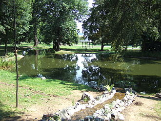 Košice-Barca - Protected park with a pond in Barca