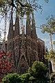 Barcelona - Plaça de Gaudí - View SW on La Sagrada Família - Nativity façade V.jpg