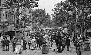 La Rambla, Barcelona - La Rambla in 1905