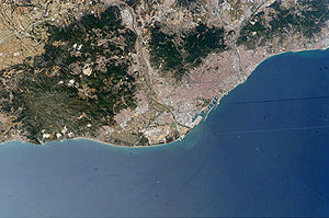 Astronaut photo of Barcelona, Catalonia, Spain...