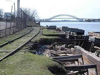 North Shore Branch Railroad branch in Staten Island, New York