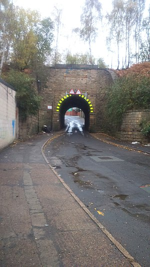 Listed buildings in Sheffield S3 - Image: Bardwell Road Railway Bridge