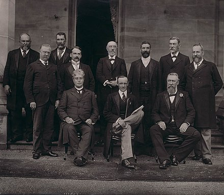 The Barton Ministry; the 1st Australian federal ministry, 1901.