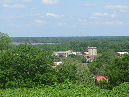 The view from the Battery C park over downtown Helena. Battery C was a station in the Battle of Helena. BatteryCView.jpg