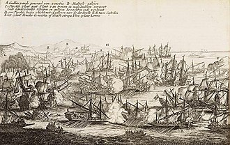 Cretan War (1645–1669) - The Fourth Battle of the Dardanelles, by Pieter Casteleyn, 1657