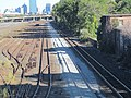 Beacon Park Yard with second mainline track construction, October 2016.JPG