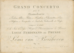 image illustrative de l'article Concerto pour piano nº 3 de Beethoven