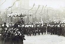 William's funeral procession, 1888 (Source: Wikimedia)