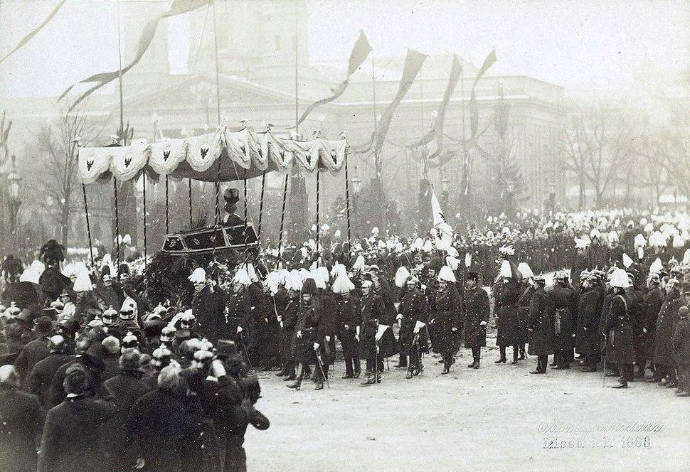 Beisetzung von Kaiser Wilhelm I 1888 - cropped