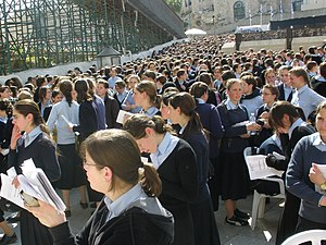Bais Yaakov - Beit Yaacov students praying at the Western Wall.