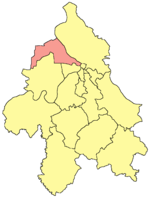 Location of Zemun within the city of Belgrade