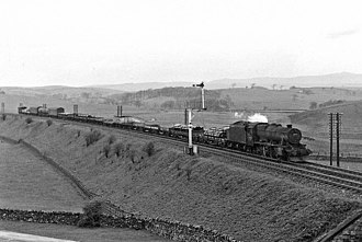 Leeds–Morecambe line - Up freight train near Bell Busk in 1961