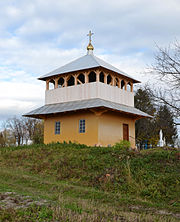 Bell tower of saints Cosmas and Damian church, Turia (02).jpg