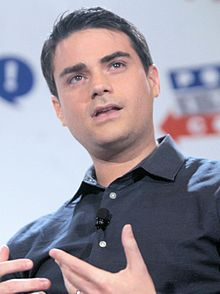 A photograph of Ben Shapiro speaking