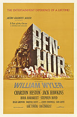 """Affiche américaine du film """"Ben Hur"""" de William Wyler (1959)."""