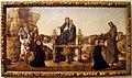 Benedetto diana, Madonna con Bambino in trono tra san Girolamo, san Francesco d'Assisi e i donatori, 1486, 01.JPG