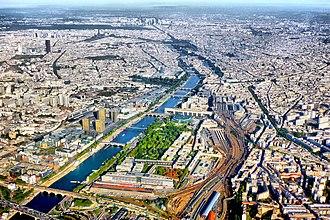 Bercy - neighborhood from the sky