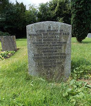 Francis Reid - Headstone for Brigadier Sir Francis Reid of Berden Hall, Essex