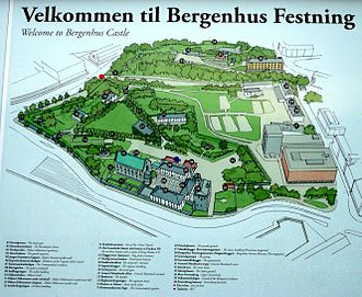 Bergenhus Fortress -  Bergenhus Fortress Map