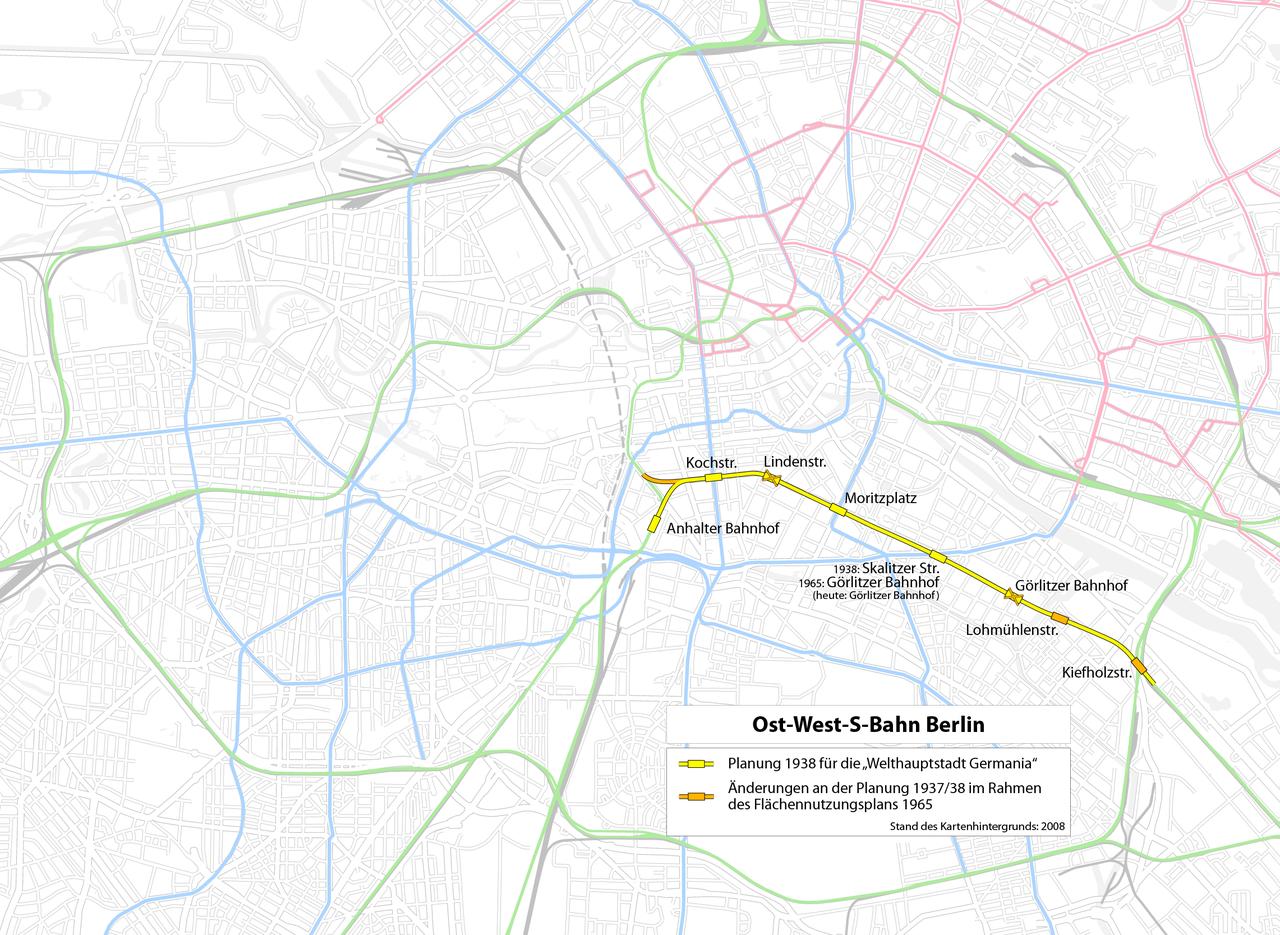 West Berlin Karte.File Berlin Lage Der Geplanten Ost West S Bahn Karte Png