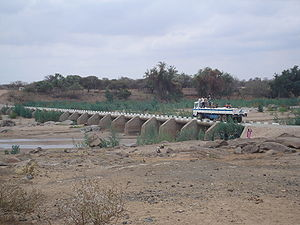 Mzingwane River - Bertie Knott Bridge on the Mzingwane River near Beitbridge.
