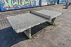 Beschädigte Tischtennisplatte am JCRG 20210904 HOF05258.jpg