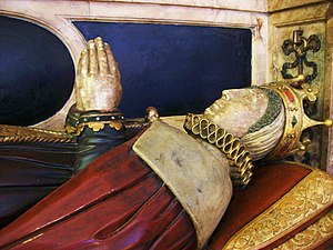 Bess of Hardwick - Effigy of Elizabeth Hardwick wearing a coronet of a countess.  Derby Cathedral
