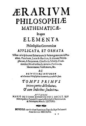 Mario Bettinus - Aerarium philosophiae mathematicae, 1647