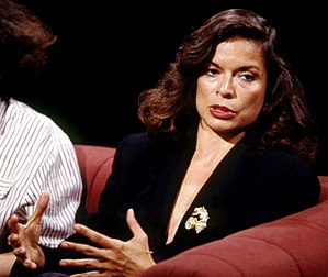 Bianca Jagger - Appearing on television discussion programme After Dark on 6 August 1988