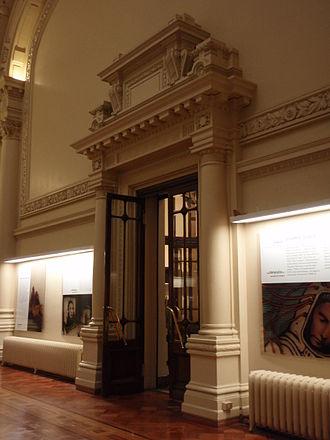 Biblioteca Nacional de Chile - Biblioteca Nacional de Chile, Computers hall, details of the doors