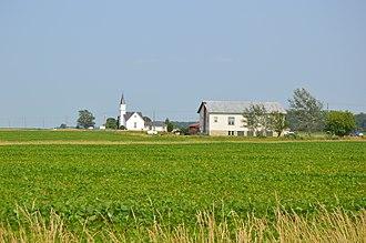 Biglick Township, Hancock County, Ohio - Scene along U.S. Route 224