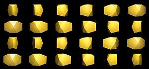 Bilunabirotunda - Full rotation of bilunabirotunda, photos every 15°.