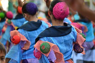 World Costume Festival - Street dancers in April in Vigan.
