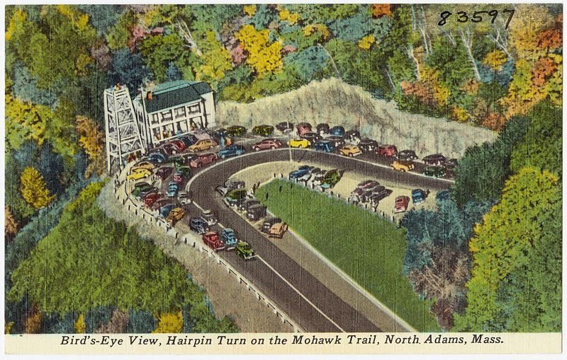 File:Bird's-eye view, hairpin turn on the Mohawk Trail, North Adams, Mass (83599).jpg