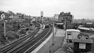 Bishop's Stortford railway station - Bishop's Stortford Station in 1961