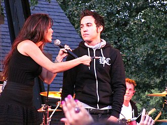 Black Cards - Pete Wentz with Bebe Rexha in 2011.