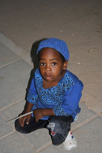 African Hebrew Israelites of Jerusalem - A child of the community, in Dimona, September 2005