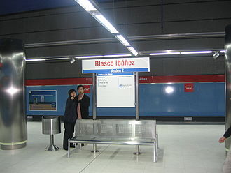 Blasco Ibáñez (Madrid Metro) - Image: Blasco Ibáñez Metro Ligero