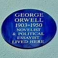 Blue plaque George Orwell, 22 Portobello Road, Nothing Hill.jpg