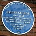 Blue plaque Joseph Sturge.jpg