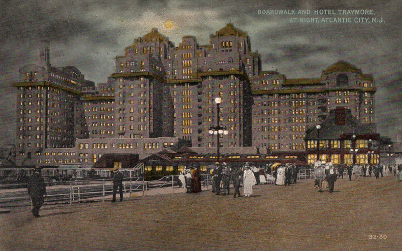 File:Boardwalk and Hotel Traymore, Atlantic City, New Jersey.png