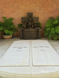 Graves of Bob and Dolores Hope, on the grounds of the Mission San Fernando Rey de Espana Bob Hope Grave.JPG