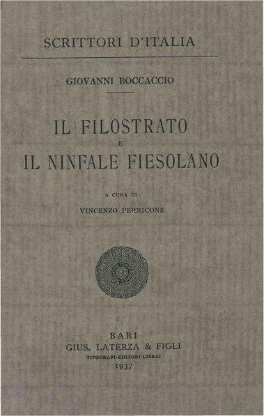File:Boccaccio, Giovanni – Il Filostrato e il Ninfale fiesolano, 1937 – BEIC 1764957.pdf
