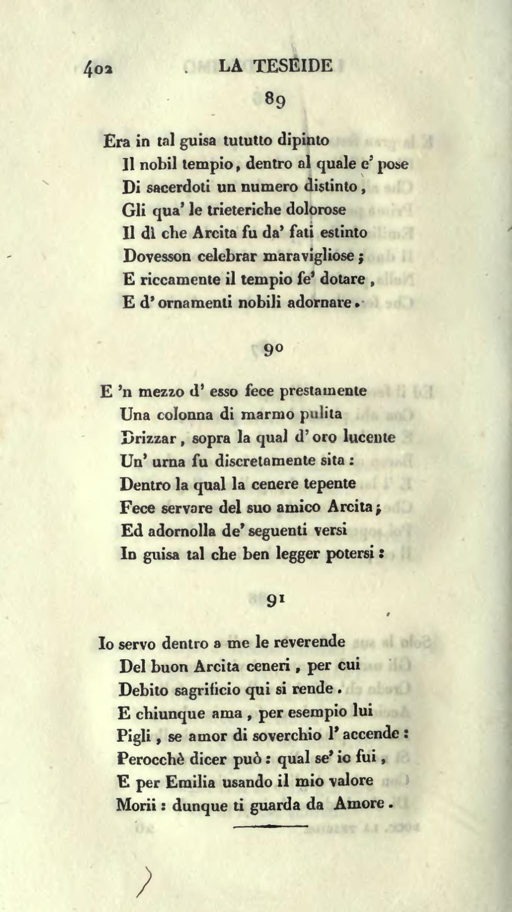 Paginaboccaccio La Teseide Di Giovanni Boccaccio Nuovamente