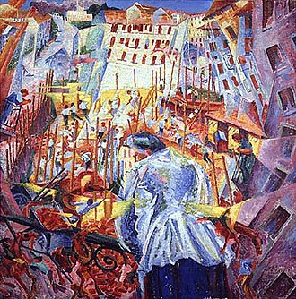 The Street Enters the House - Image: Boccioni The Street Enters The House