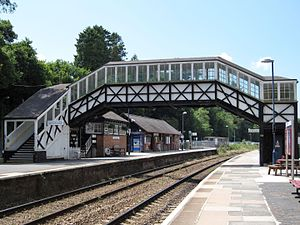 Bodmin Parkway railway station - The footbridge