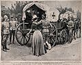 Boer War; a nurse helping invalids to an ambulance for trans Wellcome V0015533.jpg
